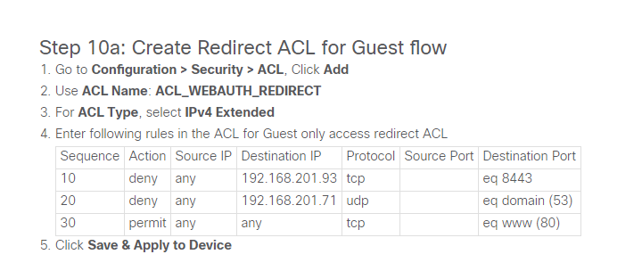 Cisco Guide ACL