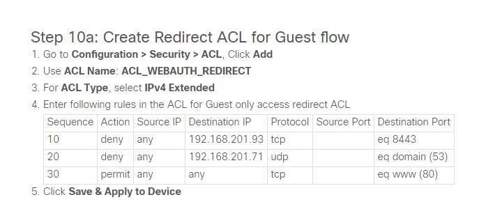 Cisco Guide ACL