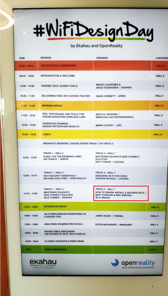 Presentation Timetable