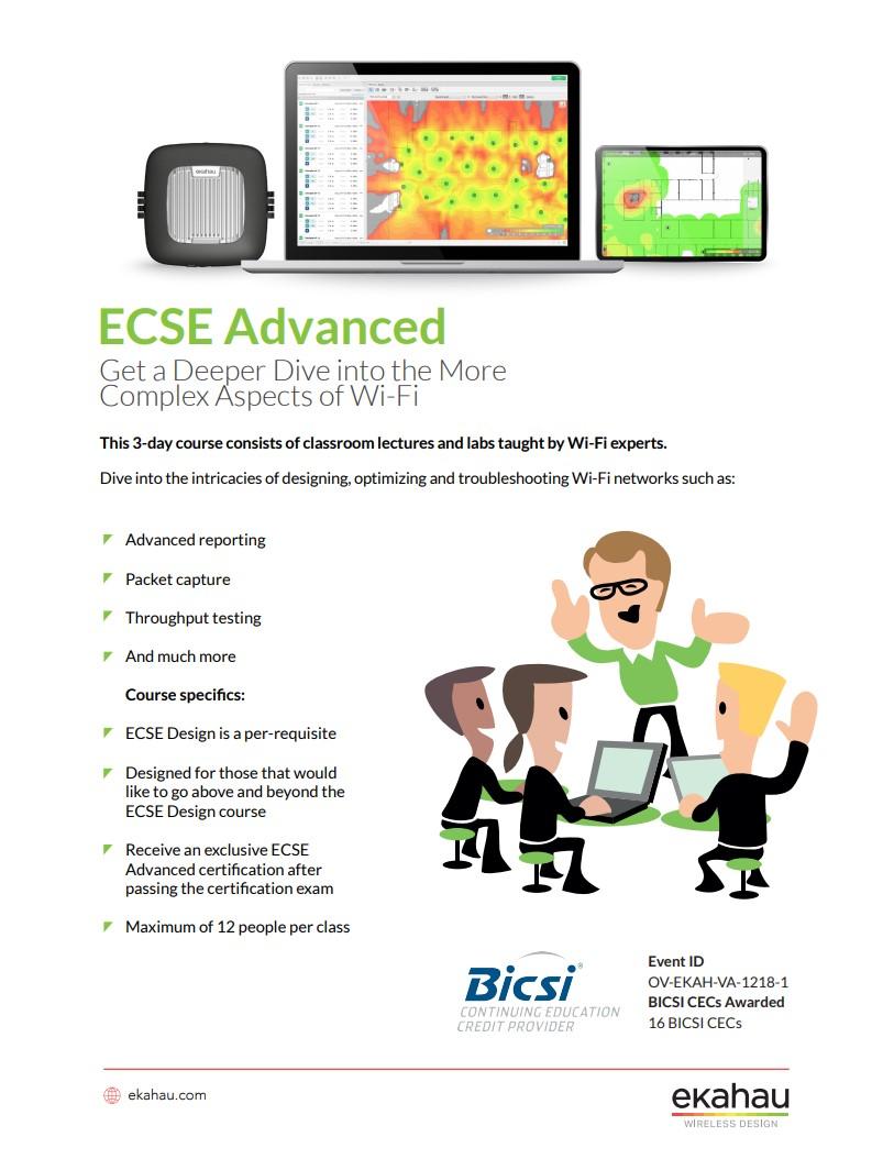 ECSE Advanced Datasheet