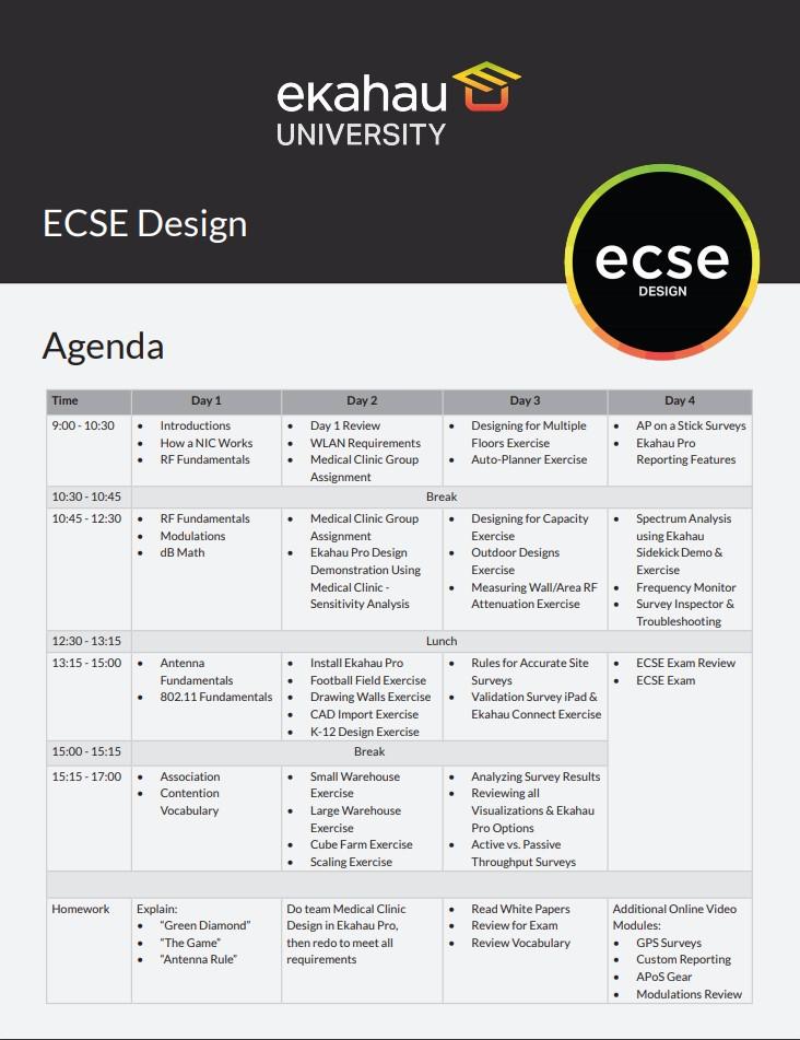 ECSE Agenda Image