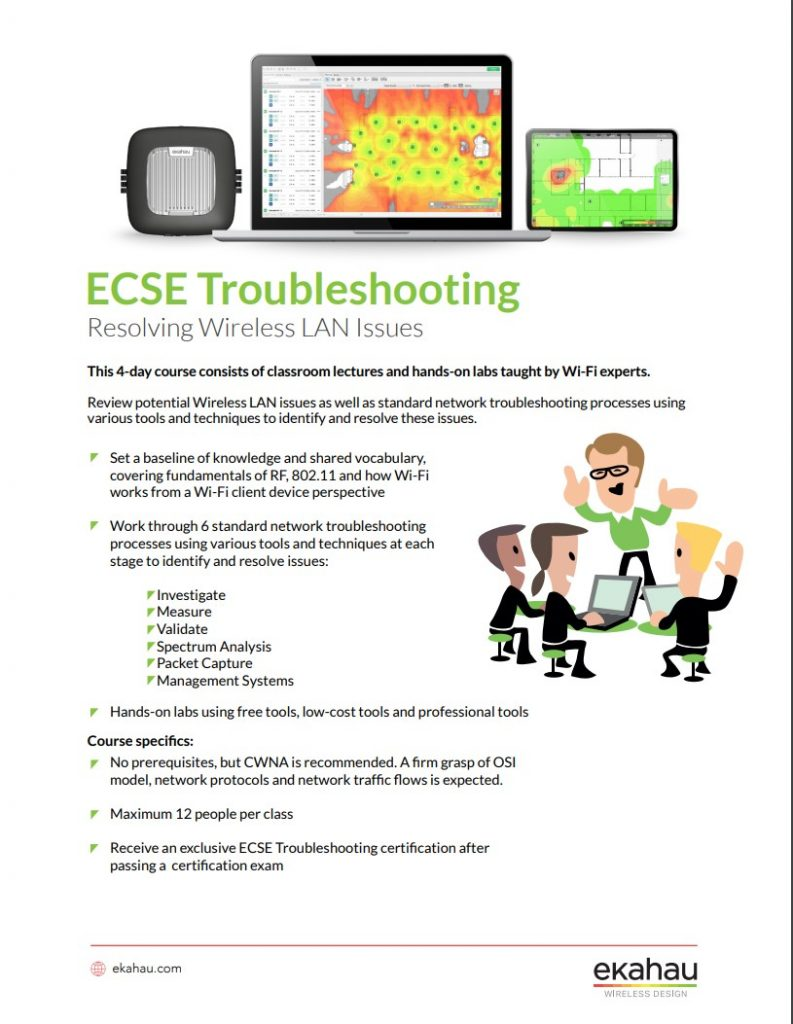 ECSE Troubleshooting Datasheet