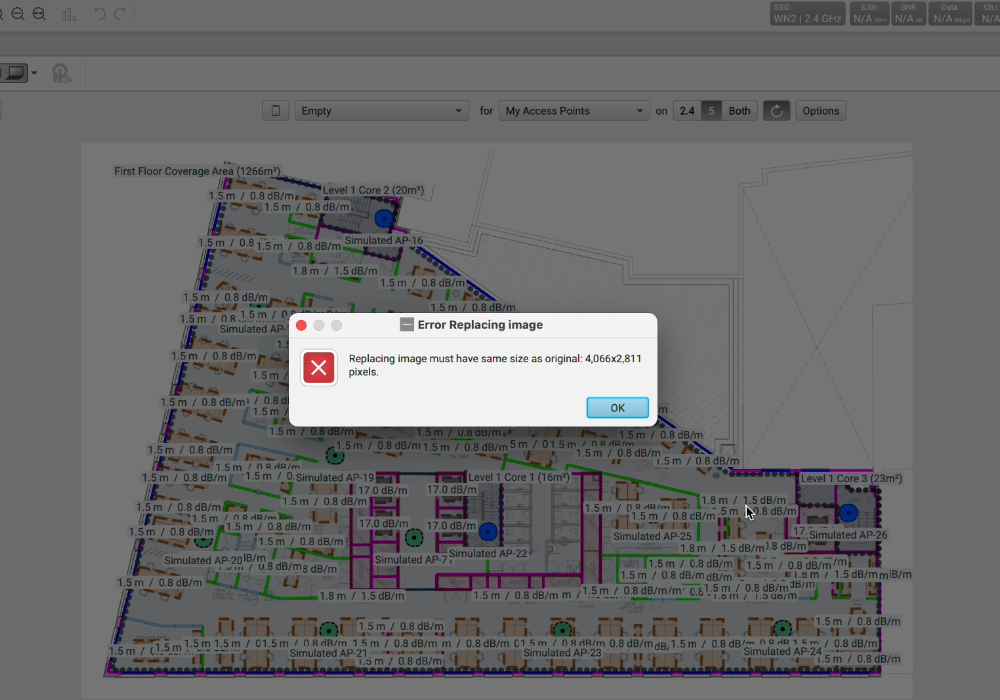 Ekahau Swap Map Image - Feature